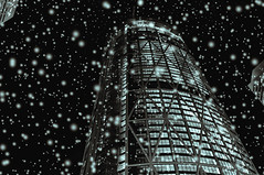 Calgary Snow? (Surrealplaces) Tags: calgary alberta canada skyscraper thebow tower torre wolkenkratzer normanfoster
