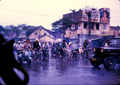 Saigon Street 1966 by Dr James Hughes by 7th Surgical Hospital (MA)  Vietnam