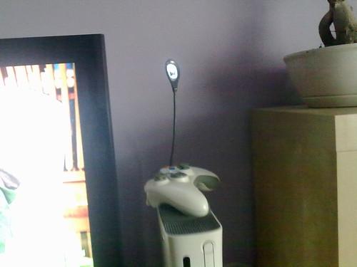 xbox 360 con lampara usb de leds II