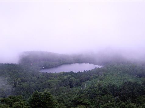 高見石より白駒池を俯瞰
