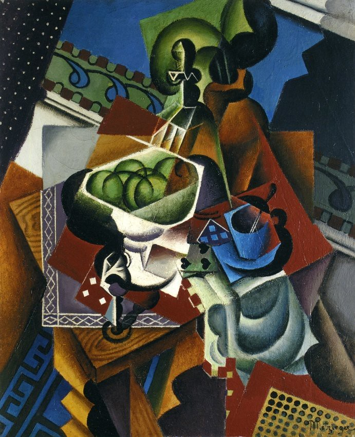Metzinger, Jean (1883-1956) - 1917 Still Life: Playing Cards, Coffee Cup and Apples (Private Collection)