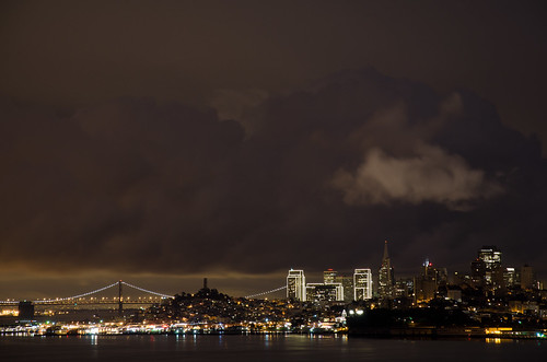 Cloudy San Francisco Nightscape