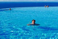 Pool boy (Håkan Dahlström) Tags: blue vacation me pool azul swim islands spain europe blauw puertorico blu infinity canarias f45 bleu gran canary blau canaria håkan 2010 kanarieöarna amadores dmclx3 ¹⁄₁₀₀₀sek