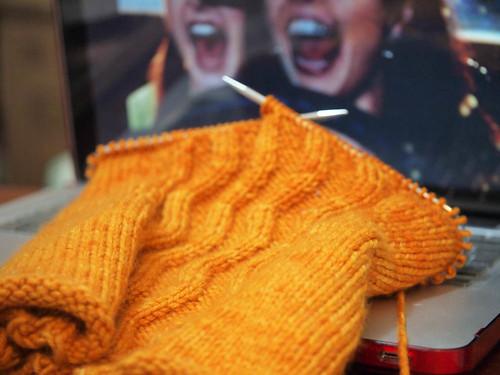 saturday night knitting-1