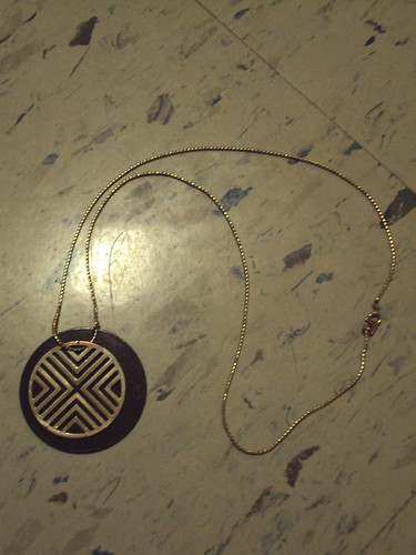 Brown and Gold Geometric Necklace
