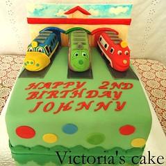 Chuggington trains cake (Victroria's_cakes) Tags: birthday cake children tank character engine trains decorating wilson brewster modelling koko fondant sugarpaste chuggington
