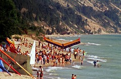Elberta Beach During the Hang Gliding Heydays by jimflix!