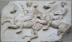 Parthenon West Frieze, Slab 2 (Horsemen)