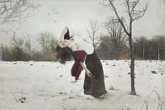 one last breath (Amy Ballinger) Tags: winter woman snow beauty birds chill selfie lastbreath