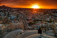 Viewpoint over Greme HDR (Photos On The Road) Tags: travel sunset panorama rock stone turkey landscape asia tramonto village viewpoint hdr turkish cappadocia greme turchia elaborazioni orizzontale 5photosaday