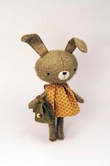 Aada (miaki) Tags: original rabbit bunny toy handmade softie mohair midi manomine