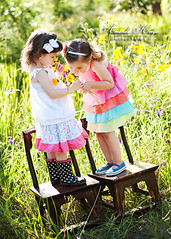 Little friends ({amanda}) Tags: girls cute field spring boots sweet shabby 85mm14 amandakeeysphotography d700 spring2010 shabbypoppies