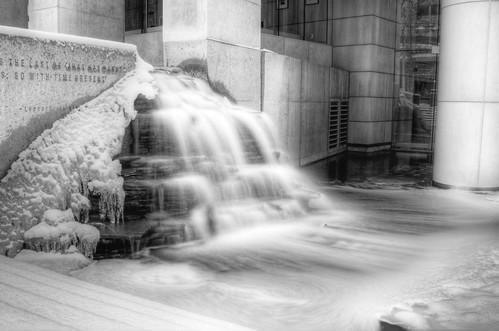 Snowy Condo Fountain I