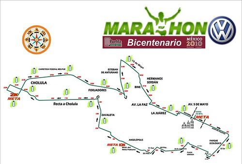 Ruta Maratón de Puebla 2010