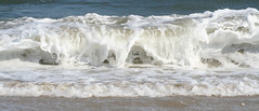 My Heart is in the Sea. (EmAhLeeLove.) Tags: ocean blue white spring sand waves crash barrel atlantic foam rough outer banks ocracoke