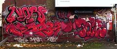 NORF/TEMP32/TOPE (Alex Ellison) Tags: street pink urban london art catchycolors east tbk tope norf teko graffititag zerx temp32