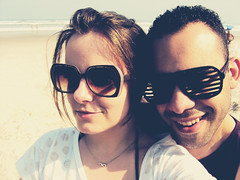Our November 26th. (stephaniereis.) Tags: cute love praia beach boyfriend me sunglasses myself us amor eu moi we amour sweetie ns eto culos loveyou namorado  teamo jetaime exitdoors november26th stephaniereis 26denovembro