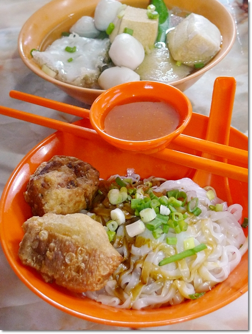Fish Ball Noodles with Yong Tau Foo