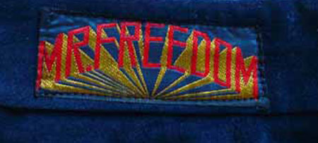 Mr Freedom trousers label