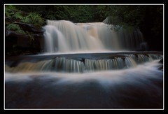 The dark waterfall pool (Martyn.Smith. Back from Euro tour :)) Tags: water canon landscape eos photo waterfall flickr wasserfall falls waterfalls cascade cachoeira usk cascata waterval talybont 450d platinumheartaward mygearandmepremium mygearandmebronze mygearandmesilver mygearandmegold