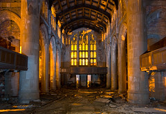 Sanctuary (Noel Kerns) Tags: abandoned church night ruins first indiana gary methodist