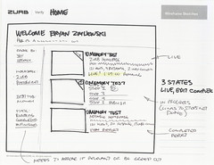 Verify Home Screen (Active) (ZURBinc) Tags: design thinking visuals sketches product sales ideas interactiondesign app concepts verify workflow wireframes zurb zurbapps