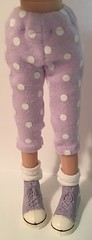 Lavender With White Dots...Leggings For Blythe...