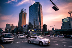 Gangnam (Olga Vasiljeva) Tags: car public urban city seoul korea gangnam street road travel asia