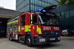 WX66 JVC (markkirk85) Tags: london mercedes benz atego emergency one fire brigade a231 euston dpl158 lfb engine appliance 1327 wo66 hgg wo66hgg