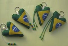 Chaveiros da copa! (Arte & Mimos) Tags: brasil feltro copa chaveiro megaartesanal
