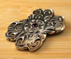 "garnet ""pin"" II (maianajewel) Tags: pin brooch magnet magnetic garnet artclaysilver finesilver"