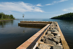 DNR Safe Harbor at Horseshoe Bay (Bryan Hansel) Tags: usa minnesota dock horseshoebay mn lakesuperior hovland boatramp 100626