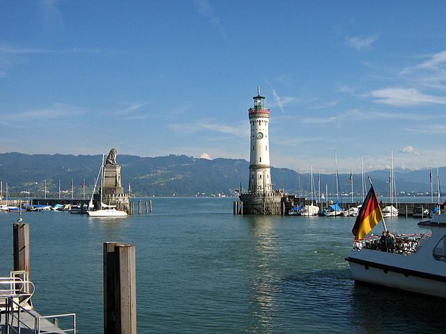 Lindau am Bodensee - Hafen  60 Tagung der Nobelpreistrger by digital cat