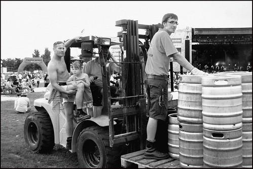 Trabajadores en la Donauinselfest