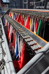 spare hooks (1600 Squirrels) Tags: sanfrancisco california usa japanese boat photo lenstagged ship flag navy embarcadero hd 1600squirrels sfbayarea nocal polarizer hoya 2x3 sanfranciscocounty canon24105f4 pier27 5dii