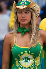 Brazil (Popeyee) Tags: world pictures chile brazil cup sports brasil southafrica fan photo football foto photographer bresil emotion image photos fifa soccer watching picture images wm celebration wc vs fans futebol brasilia celebrating versus 2010 sudafrica жена worldcup2010