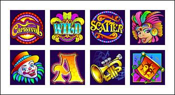 free Carnaval slot game symbols