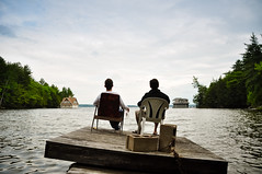 Rosseau Dock (mikehutch711) Tags: wood trees sky people lake canada broken nature water relax dock nikon cottage scene canadian sit muskoka 18200 rosseau 18200mm d90