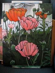 Poppies, getting closer to done