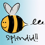 bee splendid button 150