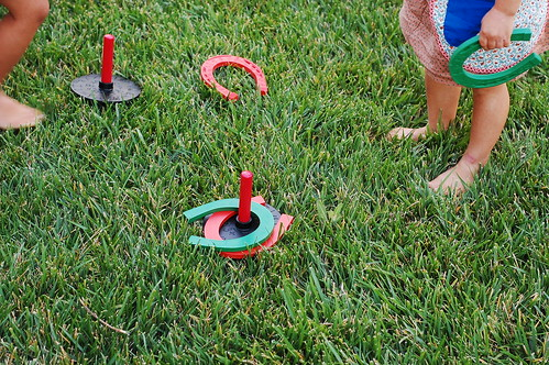 a game of horse shoes