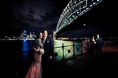 Nikki and Dane (jæms) Tags: bridge wedding portrait nikki harbour sydney dane sydneyharbourbridge remoteflash strobist 06062010 therichardsmethod