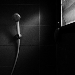 77 | 365 [Shower to shower] (tontygammy) Tags: windows light blackandwhite bw monochrome lines wall night bathroom shower shadows hard lowkey sharpedges project365 365days grd3 grdiii ricohgrdigitaliii