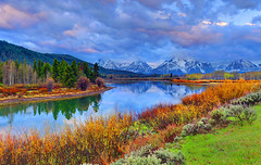 The World is my Kaleidoscope, Oxbow Bend, Grand Teton National Park (Ireena Eleonora Worthy) Tags: reflection pelicans clouds morninglight spring nikon colours aspens wyoming np jacksonhole beavers grandtetonnationalpark oxbowbend mywinners d700 bestofmywinners mygearandme sunriseonarainyday northernstraitsphotography