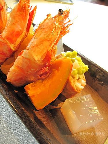 食養山房明蝦與壽司