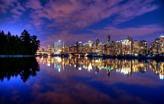 Vancouver After Dark (Brandon Godfrey) Tags: world pictures city pink blue trees urban canada water beautiful skyline night vancouver clouds buildings reflections dark landscape boats photography lights harbor big amazing twilight scenery cityscape bc purple photos harbour pics earth britishcolumbia sony towers scenic scene canadian shangrila reflected hour western pacificnorthwest northamerica metropolis stanleypark tall coal condos dslr hdr highdynamicrange highrises 2010 marinebuilding bentallcentre lowermainland a300 metrovancouver shawtower granvillesquare photomatix tonemapped tonemapping vancouverconventioncentre freewallpaper fairmontpacificrim