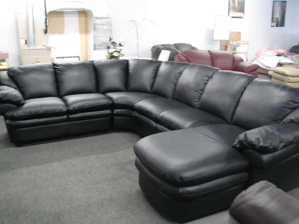 4th_Of_july_Sale_Natuzzi_A845_black (Interior Concepts Furniture) Tags:  Leather Sale W 4th July Sofa Sofas Editions