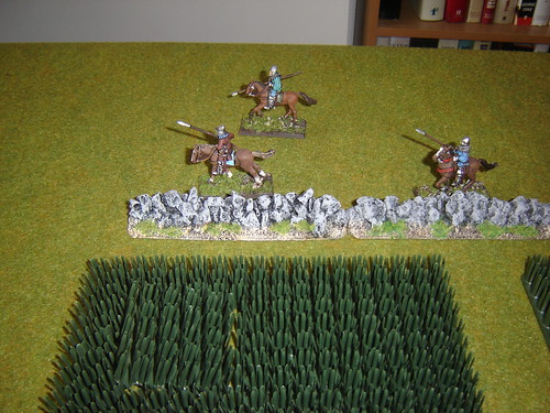 Geoffrey of Brabant's light cavalry race around field