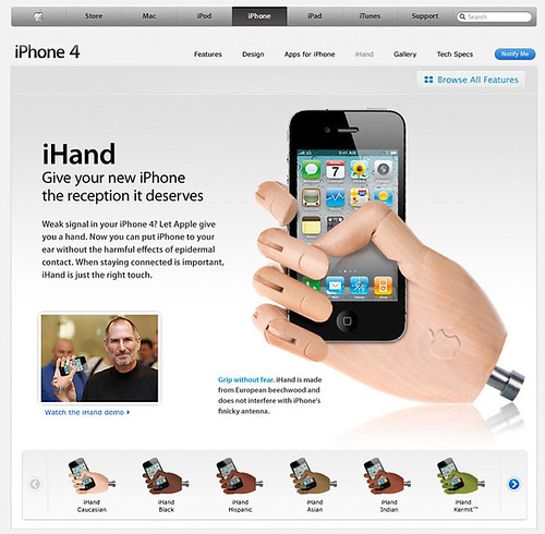 iHand iPhone 4 Prosthetic