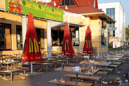 Ярославль: Макдоналдс утром (Биг тейсти с беконом)